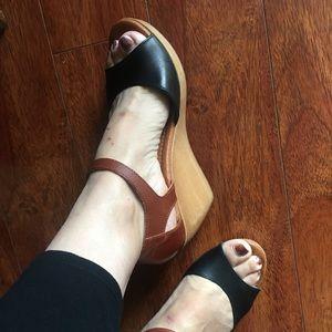 Madewell 1937 Maryjane Clog Two-Tone Sandals